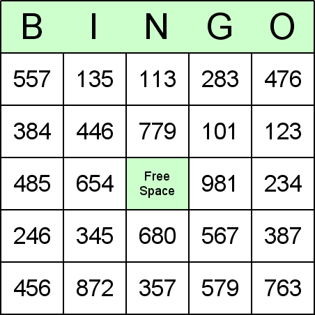 Long Division Bingo Cards for teaching math and arithmetic